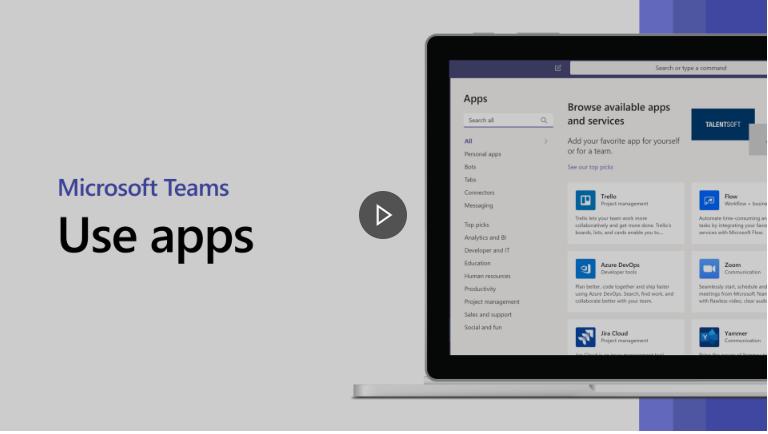 Help uw organisatie het maximale uit Microsoft Teams te halen - Apps toevoegen in tabs